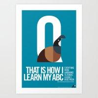 Animal Alphabet Q Art Print