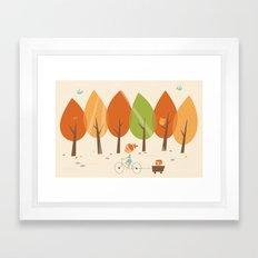 Balade en automne Framed Art Print