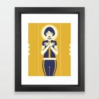 Evangeline Yellow Framed Art Print