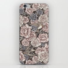 Flowers & Swallows iPhone & iPod Skin