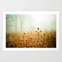 forest Art Prints featuring Daybreak in the Meadow by Olivia Joy StClaire