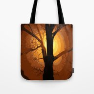 Sunset Over The Tree I Tote Bag