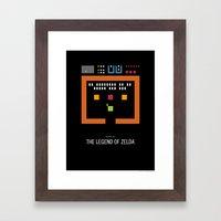 Minimal NES - The Legend… Framed Art Print