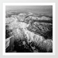 Winter Mountain Range Art Print