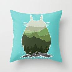 No more rainy days Throw Pillow