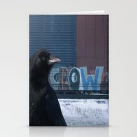 Be Crow Stationery Cards