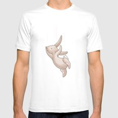 Falling Bunny 1 - Series White SMALL Mens Fitted Tee