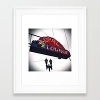 Framed Art Print featuring Historic neon sign by Vorona Photography