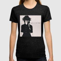 WHERE IS MY MIND? Womens Fitted Tee Tri-Black SMALL