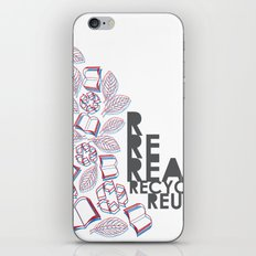 read, recycle, reuse iPhone & iPod Skin