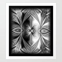 Abstract Peacock. Black+… Art Print