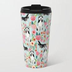 Husky dog breed must have gifts for dog person husky owner presents Travel Mug
