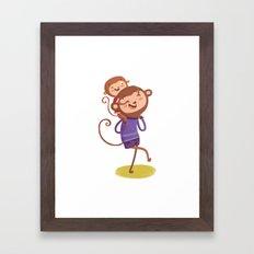 Monkey-ride Framed Art Print