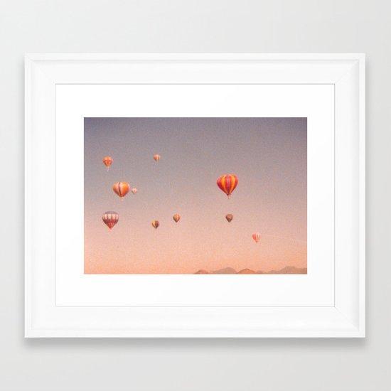 vintage hot air balloons in rio Framed Art Print