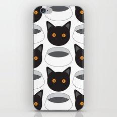 Cat Face & Bowl iPhone & iPod Skin