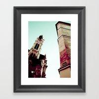 LATIN QUARTER IN PARIS. Framed Art Print