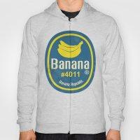 Banana Sticker On White Hoody