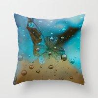 Rain Drops Keep Fallin Throw Pillow