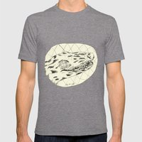 Crocodile Mens Fitted Tee Tri-Grey SMALL