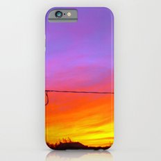 Sunset from my house iPhone 6 Slim Case
