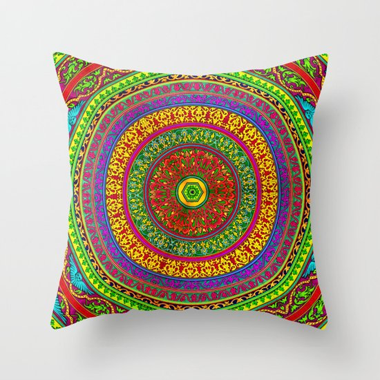 Mandala Pop Palace 2 Throw Pillow
