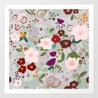 Rainy Day Floral Art Print