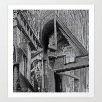 English Gothic (Halftone… Art Print