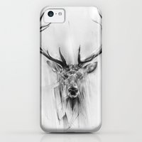 iPhone 5c Cases featuring Red Deer by Alexis Marcou