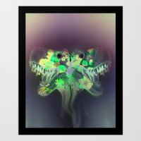 T-Rex Dream Art Print