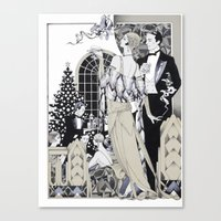 Deco Christmas Canvas Print