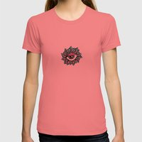 Eye Petals Womens Fitted Tee Pomegranate SMALL