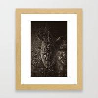 Axolotl Horst grey Framed Art Print