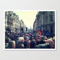 A London Parade  Canvas Print