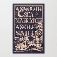 A Smooth Sea Canvas Print