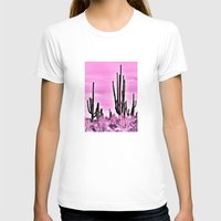 Wild Cactus Womens Fitted Tee White SMALL
