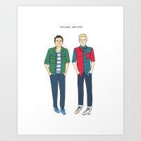 Raymond and Lane Art Print