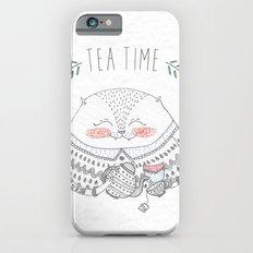 tea time cat iPhone 6s Slim Case