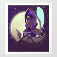 By The Cresent Moon Art Print