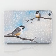 Chickadees In Snow iPad Case