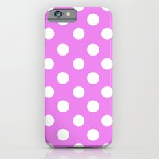 Polka Dots (White/Violet) iPhone 6 Slim Case