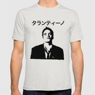 QUENTIN TARANTINO Mens Fitted Tee Silver SMALL