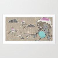 Rainstorm-nostalgia Art Print