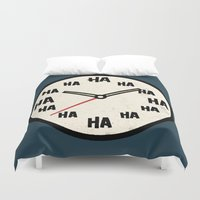 The Laughing Clock Duvet Cover