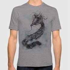 cool sketch 144 Mens Fitted Tee Athletic Grey SMALL