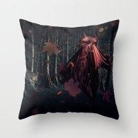Little Miss Red Riding H… Throw Pillow