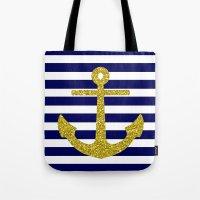 Gold Anchor Tote Bag