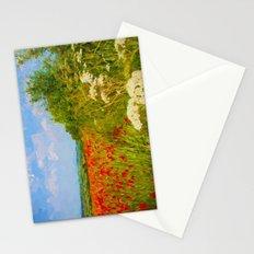 Poppy fields Stationery Cards