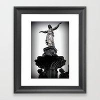 The Lady Of Fountain Squ… Framed Art Print