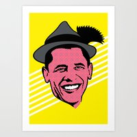 obama Art Prints featuring Obama by artpuerto