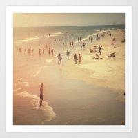 Beach Party Art Print